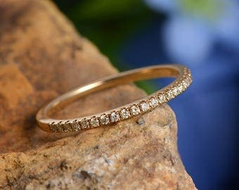 Wedding Band Women Diamond Wedding Ring Gold Eternity Minimalist Simple Dainty Stacking Dainty Anniversary Promise Engraving Band