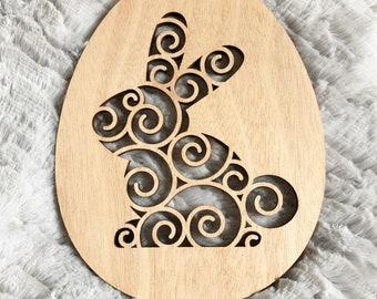 Easter egg wooden decorative Hare - Easter - Easter tree - Decoration decor