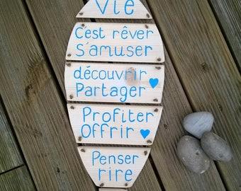fish - custom wooden sign