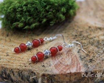 Carnelian stones earrings