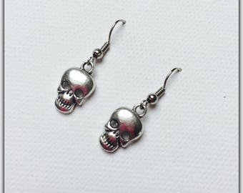 Halloween skull charm earrings