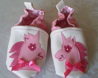 """(15/18 months) slipper size 21 leatherette""little Unicorn"""""