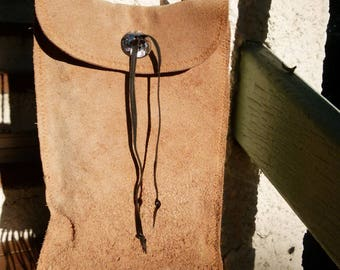 Leather man bag pouch