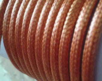 Copper 3mm leather cord
