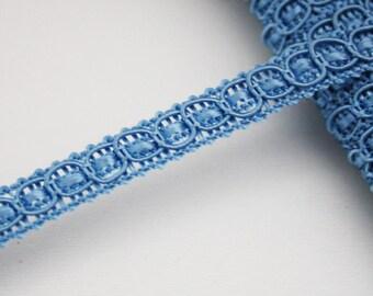 Galon de passementerie bleu, 8 mm, 1 m, galon bleu