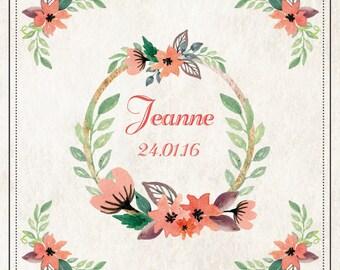 "Share ""Jeanne"" retro floral atmosphere, Hawaiian"