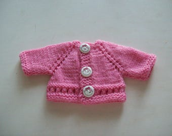 clothing, compatible with babies: Cardigan vest for 32 33 cm dolls, handmade
