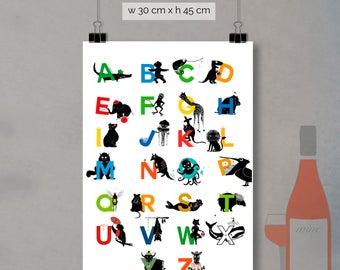 print - alphabet letters (30 x 45cm)