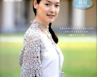 Let's Knit Series SHAWL and STOLE ,Japanese Craft E-Book /eBook / PDF / Pattern / Instant Download.