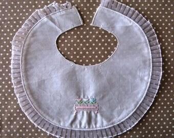 Faux round bib collar shape bib customisatin vintage Doll or dress year 60 christening dress