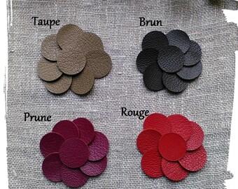 8 Ronds de cuir 2.5 cm, Violet Rouge Bleu Rose Vert  Création bijoux, Accessoires cheveux ou sac, scrapbooking, Applique cuir, Apprêt
