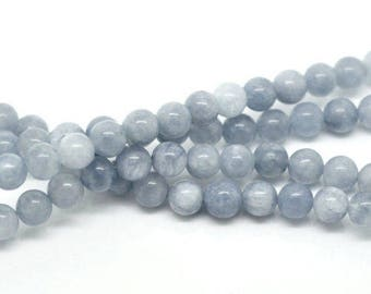1 row of Pearl Aventurine blue 8mm within 15 days