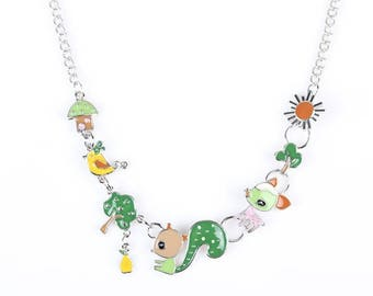 1 necklace squirrel 45 x 25 mm necklace 45 cm within 15 days