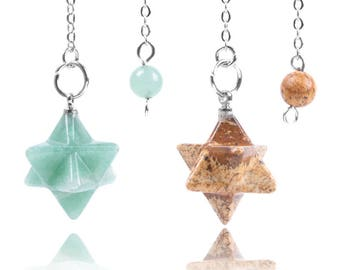1 nice Merkabah stone pendulum to choose within 15 days
