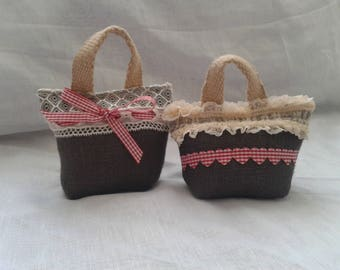 Lavender bag taupe (set of 2)