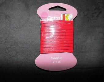 Red Ribbon cord 2 m x 50
