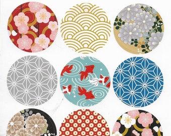 Autocollant motifs japonais