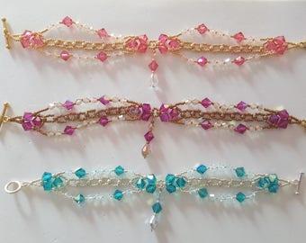 swarovski beaded bracelets