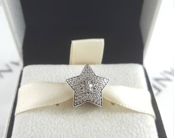 Pandora Retired Wishing Star, Clear CZ Charm