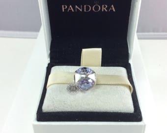 New Authentic Pandora Lavender Radiant Drop Charm