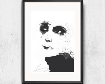 "Portrait Fine Art Print ""Fashionista"""