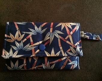 "Wallet cotton printed pattern ""bamboo"""