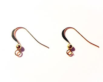 pair of ear wire Gold filled 14 carats - gift idea