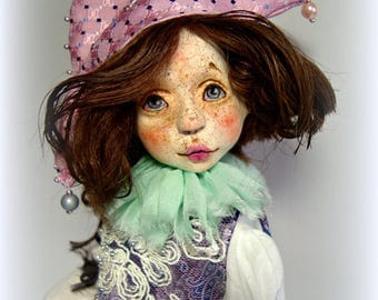 sold. Truffaldino art doll collectible doll