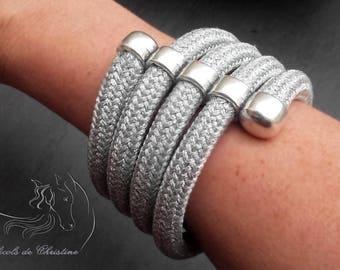 10 mm silver rope bracelet