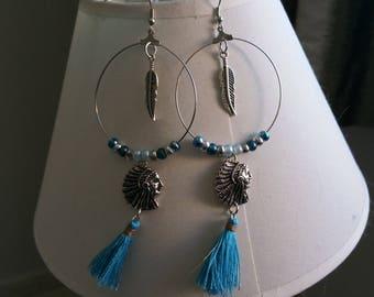 Hoop earrings with Indian