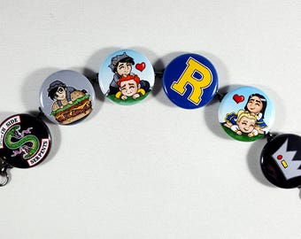 Riverdale inspired bracelet Archie Andrews jughead Jones betty Cooper veronica lodge button