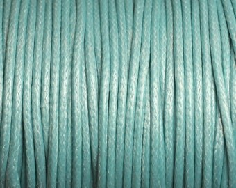 5 Metters - 2mm blue Turquoise 4558550003850 waxed cotton cord