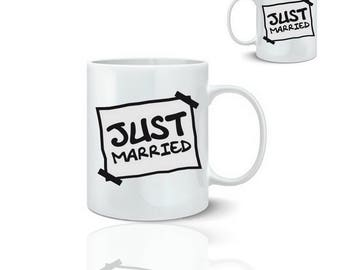Just married - ceramic mug mug 325 ml