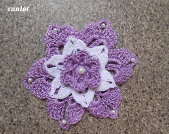 Violete cotton CROCHET flower