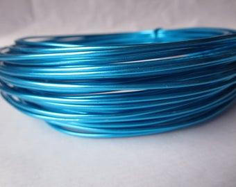 2mm turquoise aluminium wire.