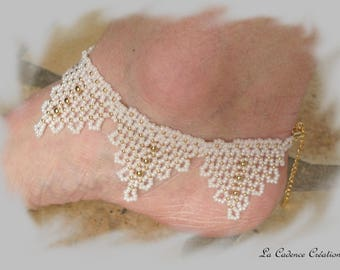 """Chic"" beaded anklet"