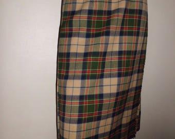Barrie eccosaise 100% Virgin wool t38/40 Vintage skirt