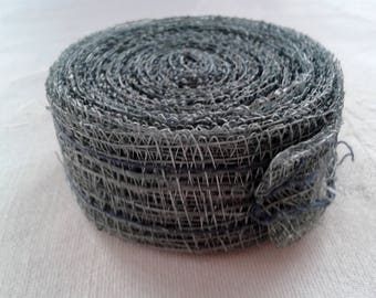 roll of green sisal for floral bouquets or Christmas gift