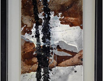 lacquered painting, pasted on board TB109