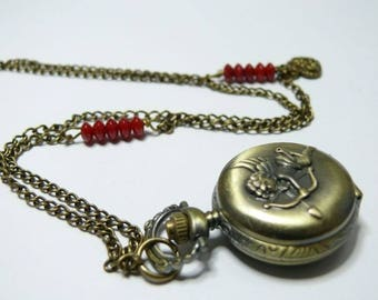 Angel of my heart Pocket Watch necklace