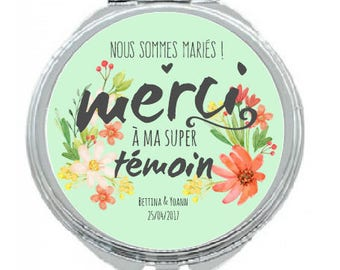 "PERSONALIZED Pocket mirror ""married"""