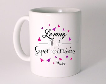THE MUG SUPER GODMOTHER personalized with child's name