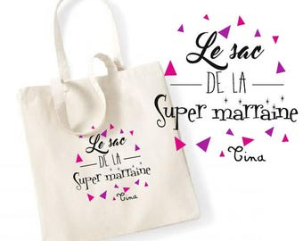 """TOTE BAG 100% cotton """"super godmother bag"""""""