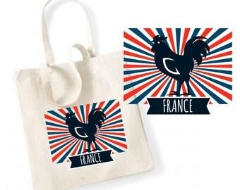 "TOTE BAG 100% cotton ""France"""