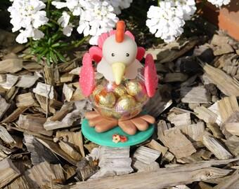 Petite poule  de Pâques modèle rose