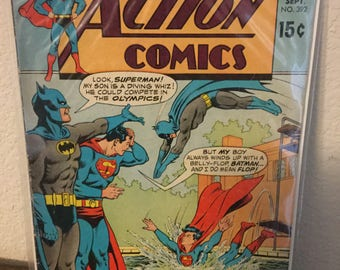 Action Comics #392 - Vintage DC Comics Silver Age Comic from 1970 in Fine condition! Batman, Superman and the Legion of Super-heroes!