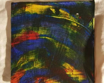 Small painting Rainbow Tornado