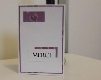"""Merci"" thank you card"