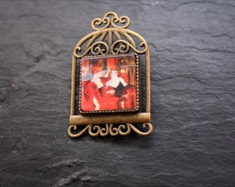 Toulouse Lautrec square brooch