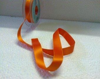 Orange satin ribbon wide 1.5 cm